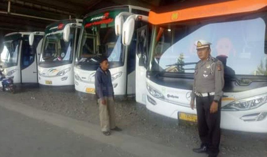 Cegah Kecelakaan Libur Iduladha, Satlantas Majalengka Sidak Kelayakan Bus Pariwisata