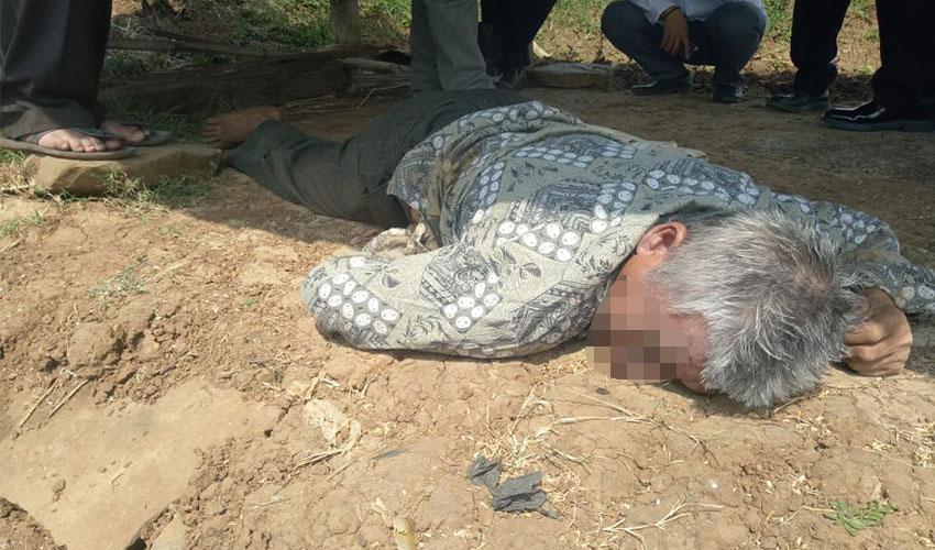 Penemuan Mayat Kakek Di Pematang Sawah Gegerkan Warga Majalengka