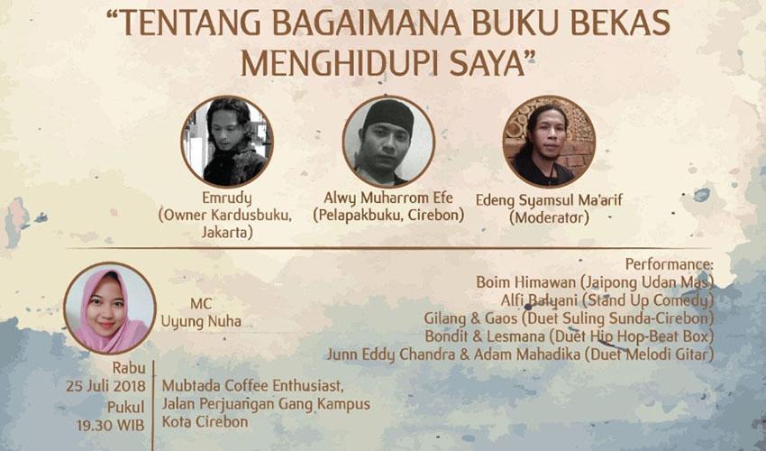 "Komunitas Sastra Lingkar Jenar Gelar Diskusi Bertajuk ""Tentang Bagaimana Buku Bekas Menghidupi Saya"""