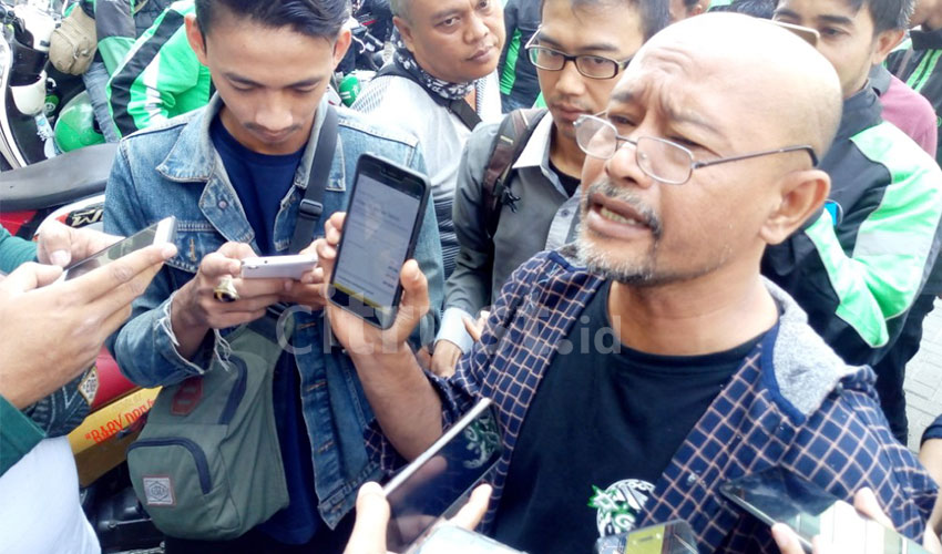 Gerudug Kantor Grab Cirebon, Ratusan Driver Online Protes Penurunan Insentif