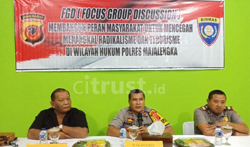 Tangkal Paham Radikalisme, Sat Binmas Polres Majalengka Gelar FGD Bersama UNMA & Masyarakat