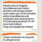 Pesan Berantai GP Ansor Akan Serbu Markas FPI Hoaks