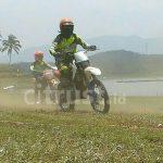 Surut, Waduk Darma Jadi Ajang Off Road Se-Jawa Barat