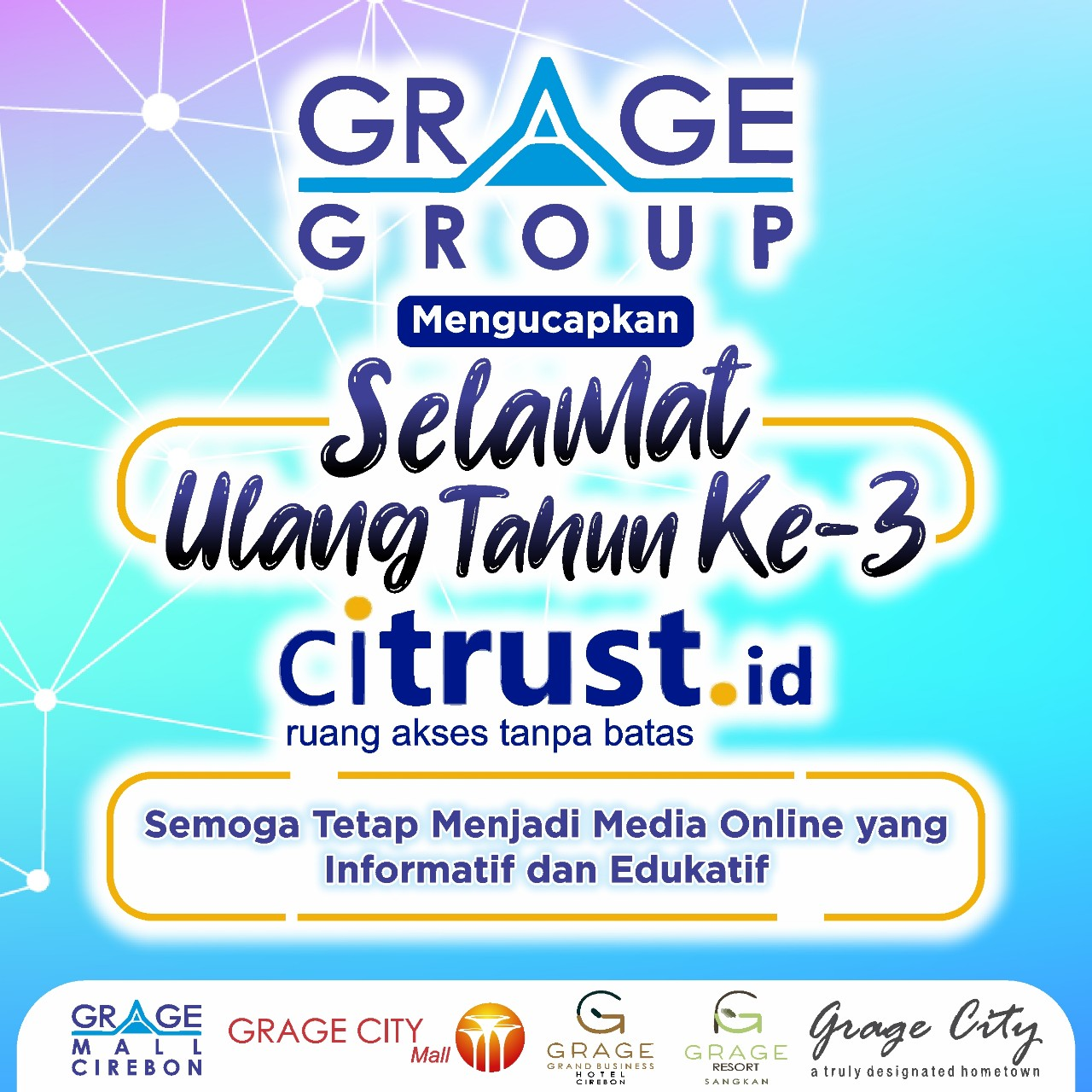 Iklan Ucapan HUT Citrust Grage Group