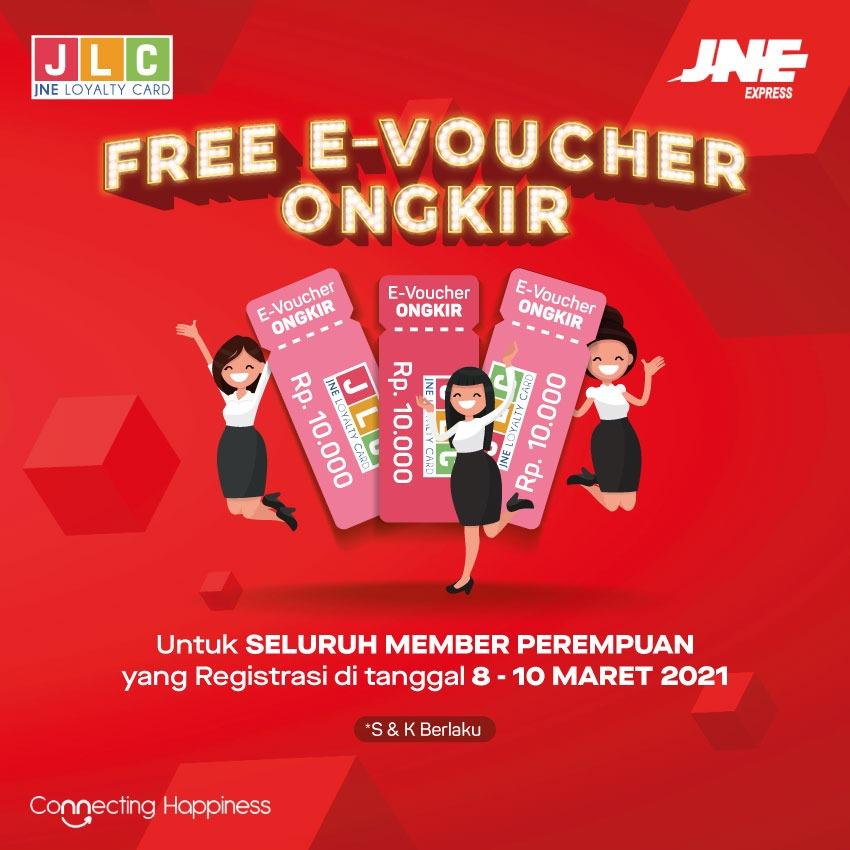 JNE E-Voucher Free Ongkir